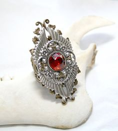 Steampunk Ring  Native American Gothic Ring by DesignsBloom, $50.00