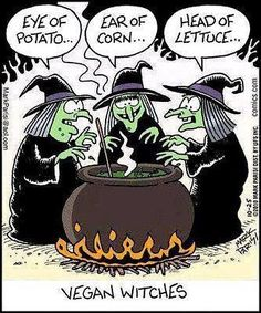 Hahaha all vegans are witches!  #motivation #inspiration #thought #quote #run #runitfast #instarunners #runhappy #furtherfasterforever #runner4life #running #fitness #training #runaholic #runningaddict #endurance #f3 #truth #instarunneros #madrunner #worlderunners #vegan #humor #halloween #halloween2016