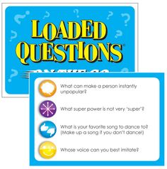 Loaded Questions On The Go Card Game -- There is no shortage of laughs with Loaded Questions On The Go, as your life becomes a traveling party with 200 hilarious, creative questions for hours of memorable game play!