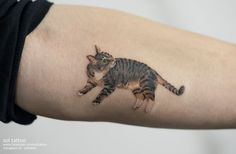 Another adorable cat tattoo #SolTattoo