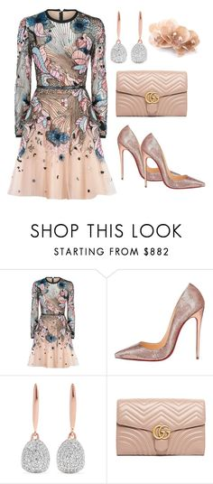 """""""#137"""" by monika-r ❤ liked on Polyvore featuring Elie Saab, Christian Louboutin, Monica Vinader and Gucci"""