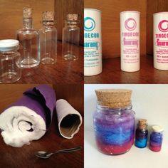 Nebula Bottle Nebula Jar Pote da Galáxia Galaxy Jar Decoração Decor DIY Do It Yourself Faça você mesmo