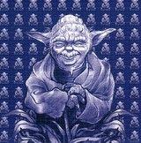 Yoda Blotter Art