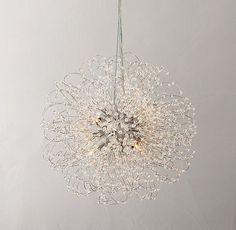 ali- bathroom lighting... Josie Crystal Small Pendant - Aged Silver