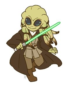 Chibi Kit Fisto Chibi Characters, Star Wars Characters, Star Wars Clone Wars, Star Wars Art, Star Wars Drawings, Jedi Sith, Star Wars Images, Episode Vii, Cute Stars
