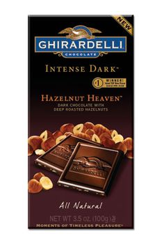 Ghirardelli Intense Dark Hazelnut Heaven.  Must try this one.