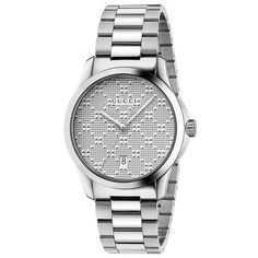 Gucci Unisex Swiss G-Timeless Stainless Steel Bracelet Watch Gucci Watches For Men, Cool Watches, Women's Watches, Old Pocket Watches, Shops, Silver Pocket Watch, Online Watch Store, Expensive Watches, Antique Watches