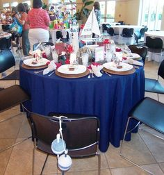 Nautical theme party (from Idelwild Baptist Holiday Tables 2012)
