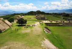 Archaeological site of Monte Alban in Oaxaca Mexico
