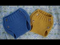 tutorials, patterns and videos in Spanish Baby Knitting Patterns, Baby Patterns, How To Start Knitting, Knitting For Kids, Knitted Baby Clothes, Knitted Hats, Baby Coat, Diaper Covers, Baby Pants