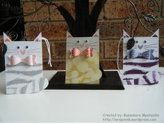 Cat gift tags, Stampin' Up! Sheltering Tree, Stampin' Up! Bow Builder punch, Stampin' Up! sale-a-bration Best Day Ever