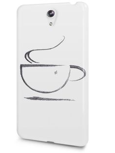 Cute Coffee Lover Sketch Art Drawing Case Cover Design for LeTV Phone