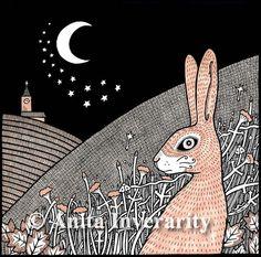 Star Gazing Hare (Lrg Ltd Ed Mounted Print)