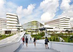 Fase 1, Universidad de Tecnología y Diseño de Singapur - UN Studio + DP Architects - foto: Hufton + Crow