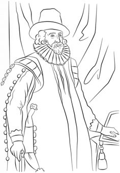 sir francis bacon coloring page