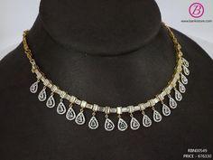 Fancy Jewellery, Gold Jewellery Design, Diamond Jewellery, Real Diamond Necklace, Indian Jewelry Sets, Gold Jewelry Simple, Jewelry Design Earrings, Wedding Jewelry, Bracelets