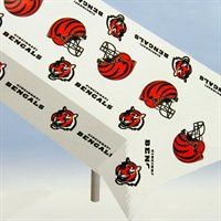 Cincinnati Bengals NFL Team Logo Plastic Tablecloth #UltimateTailgate #Fanatics  For Bryan