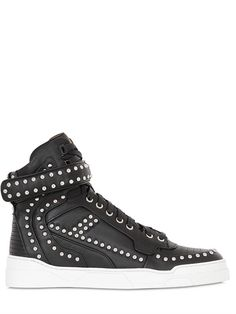 GIVENCHY - TYSON STUDDED LEATHER HIGH TOP SNEAKERS - LUISAVIAROMA - LUXURY  SHOPPING WORLDWIDE SHIPPING -