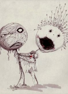 art by Tim Burton. one of my favorite pieces from his MOMA exhibit
