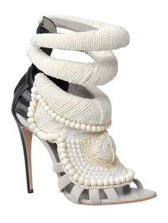Kanye West By Giuseppe Zanotti - 115mm Kanye All Over Beads Sandals by KANYE WEST BY GIUSEPPE ZANOTTI