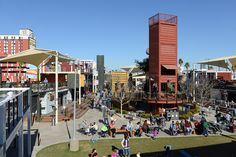 Downtown Container Park - a shopping, dining park + playground constructed mostly from shipping containers. (Brian Jones/Las Vegas News Bureau)