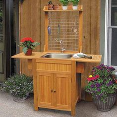 diy outdoor sink outside angle Projects Pinterest Sinks I