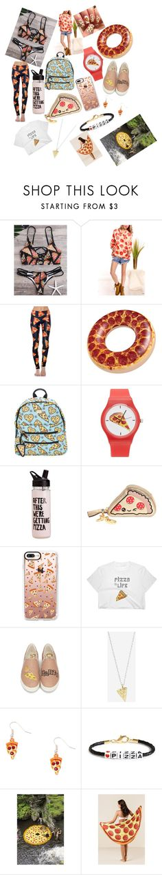 """""""pizza style"""" by audringadaskis-1 ❤ liked on Polyvore featuring Goldsheep, Forever 21, ban.do, Anya Hindmarch, Casetify, Rock 'N Rose, Ryan Porter and Urban Outfitters"""
