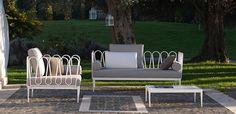 Fleurs sofa and armchair by Unopiù  #sofa #armchair #outdoor #unopiu