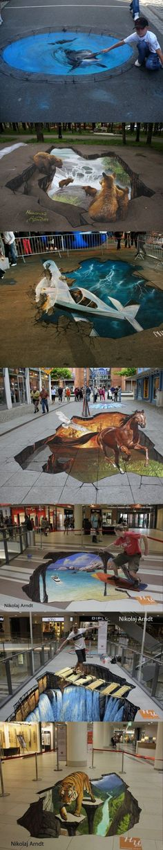 Awesome Art Photos) chalk art Street Art And Graffiti In Cork creative amazing art 3d Street Art, Amazing Street Art, Street Art Graffiti, Amazing Art, Awesome, Illusion Kunst, Illusion Art, Pavement Art, 3d Chalk Art