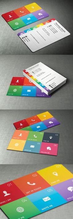 cartes de visite couleurs