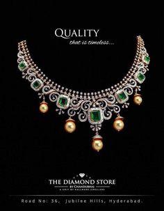 Emerald Jewelry, Diamond Jewellery, Pearl And Diamond Necklace, Jewellery Sketches, Gold Earrings Designs, Emeralds, Bridal Jewelry, Choker, Jewelry Design