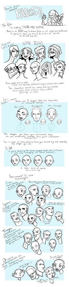 How to: Faces by ~KRIIZILLA on deviantART More (drawing cartoon people facial expressions)