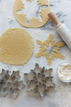 Snowflake Sugar Cookies ---- esp now that I've found a stained glass sugar cookie recipe!!