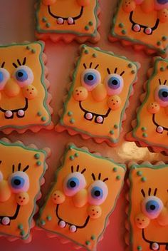 Who Lives in a Pineapple Under the Sea? Spongebob Cookies :)