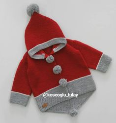 """Tülay # Köseoğlu # """"With your beloved person – kinder mode Baby Boy Knitting, Knitting For Kids, Baby Knitting Patterns, Baby Patterns, Baby Cardigan, Baby Pullover, Pull Bebe, Free Baby Stuff, Baby Sweaters"""