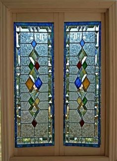 Dollhouse Miniature Artisan Leaded Glass French Doors