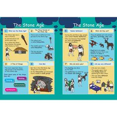 The Stone Age Revision Activity Cards History Projects, School Projects, Stone Age Ks2, Prehistoric Age, Time Stone, Middle School Activities, Social Studies Worksheets, Teaching History, Iron Age