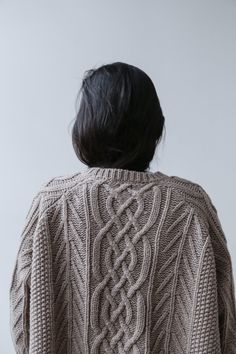 Ichi Aran Wide Pullover