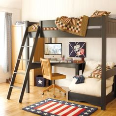 Warwick High Sleeper With Futon | High Sleepers for Children | ASPACE - oh I like this better!