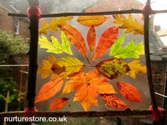 Autumn art from the garden classroom