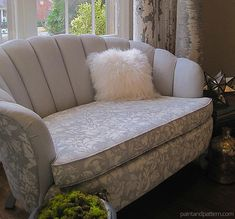 Check out the TOP 6 DIY's of the Year from Royal Design Studio stencils! (including this stenciled and painted upholstery sofa with Chalk Paint) http://paintandpattern.com/top-6-favorite-diy-stencil-tos-2014/