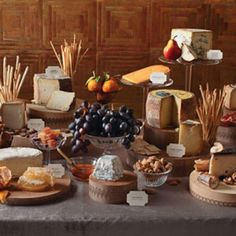 An abundant buffet is a great way to ensure everyone gets what they want, but it also creates an appetizing focal point. One tasty buffet option is a cheese station with an array of mild and strong flavors, different textures, and cheeses made with goat's, cow's, and sheep's milk. Add labels so guests know what they're diving into, then pair them with breads, fruits, and nuts.Let Guests Help Themselves