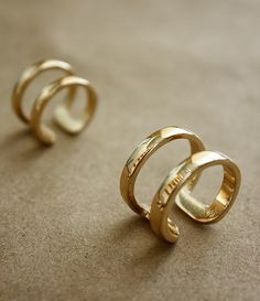 gold double cage rings