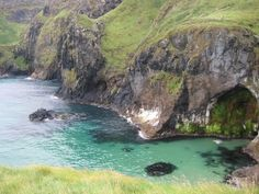 Cross the scary rope bridge for a perfect view! Northern Ireland ~ #travel #Ireland #scenery