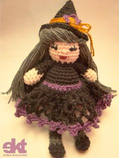 "Bruxinha - free amigurumi crochet pattern, not english, but clicking on ""lion brand"" will take you to English directions"
