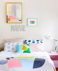 candy colors in the bedroom #decor #quartos #bedrooms