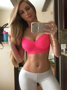 Fit selfie blonde hot
