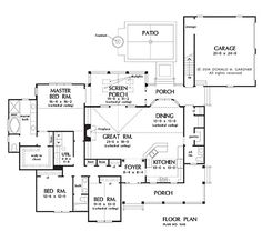 The Cornell House Plans First Floor Plan - House Plans by Designs Direct.