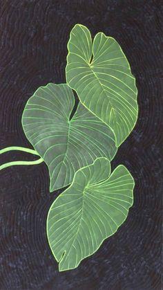 raw edge applique technique for applique tropical leaves
