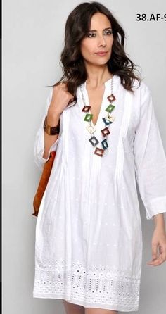 Blouse Dress, Get Dressed, White Tops, Designer Dresses, Boho Chic, Fashion Dresses, White Dress, Tunic Tops, Clothes For Women
